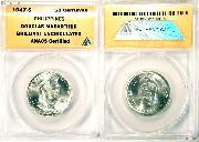 1947-S Philippines Silver 50 Centavos Douglas MacArthur in ANACS Brilliant Uncirculated