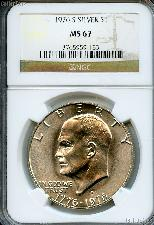 1976-S Eisenhower BICENTENNIAL Silver Dollar in NGC MS 67