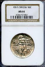 1938-S Oregon Trail Memorial Silver Commemorative Half Dollar in NGC MS 64