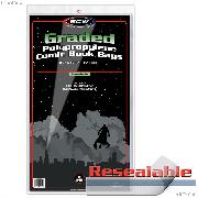 Graded Comic Book Resealable Bags Polypropylene - Pack of 100 by BCW