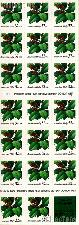 1997 Holly - Christmas Series 32 Cent US Postage Stamp Unused Booklet of 20 Scott #3177a