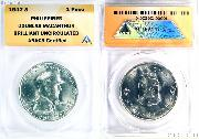 1947-S Philippines Silver 1 Peso Douglas MacArthur in ANACS Brilliant Uncirculated