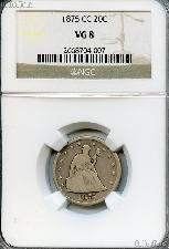 1875-CC Twenty Cent Piece Liberty Seated in NGC VG 8