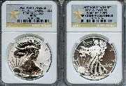 2013-W American Silver Eagle West Point Set (2 Coins) Reverse Proof and Enhanced EARLY RELEASES in Gold STAR NGC PF 70 & SP 70