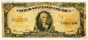 Ten Dollar Bill Gold Certificate Large Size - $10 Series 1922