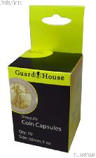 Guardhouse Box of 10 Coin Capsules for 1 oz GOLD EAGLES (32mm)