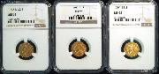 $2.50 Gold Indian Head Quarter Eagles in NGC MS 62