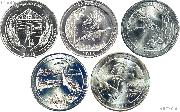 2015 National Park Quarters Complete Set Philadelphia (P) Mint  Uncirculated (5 Coins) NE, LA, NC, DE, NY