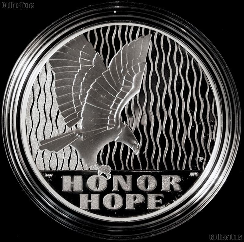 2011-P September 11 (9/11) PROOF 1 Oz Silver National Medal