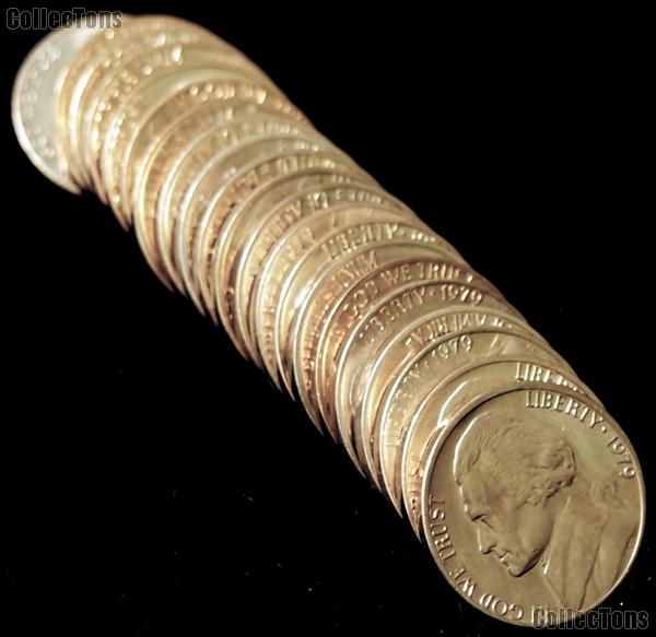 1979 BU Jefferson Nickel Roll - 40 Coins