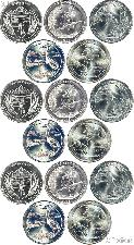 2015 National Park Quarters Complete Set P & D & S Uncirculated (15 Coins) NE, LA, NC, DE, NY