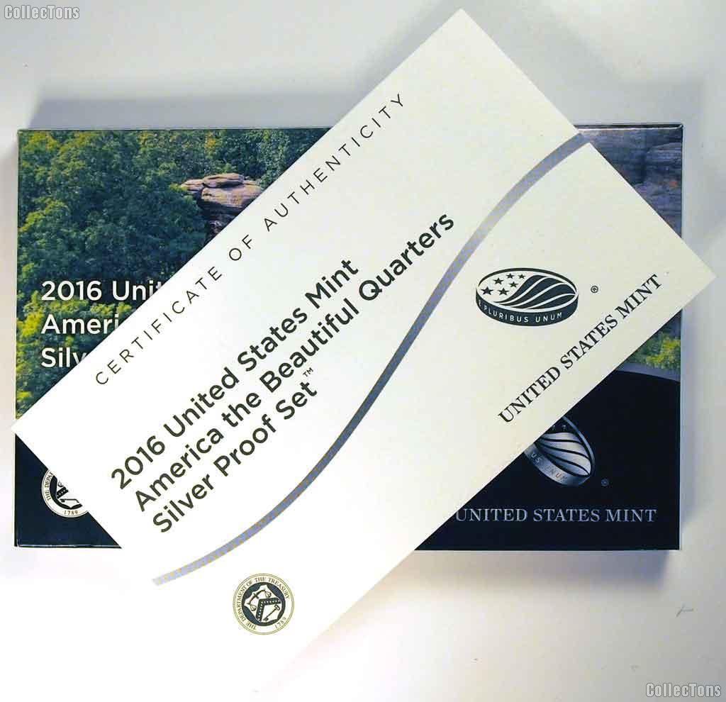 2016 SILVER QUARTER PROOF SET * 5 Coin U.S. Mint Proof Set