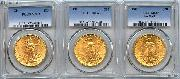 $20 Gold Saint Gaudens Double Eagles in PCGS MS 63