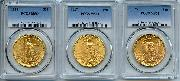 $20 Gold Saint Gaudens Double Eagles in PCGS MS 64