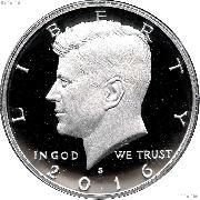 2016-S Kennedy Half Dollar * GEM Proof 2016-S Kennedy Proof