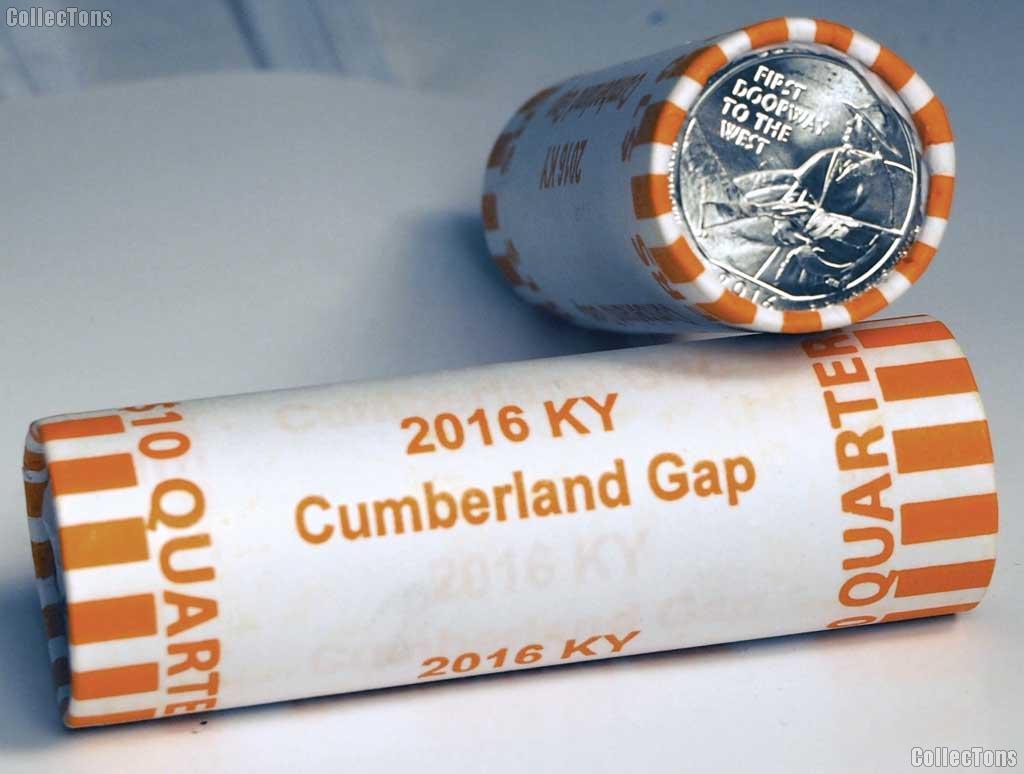2016-D Kentucky Cumberland Gap National Historical Park Quarter Roll GEM BU America the Beautiful