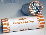 2016 P & D Kentucky Cumberland Gap National Historical Park Quarter Rolls GEM BU America the Beautiful