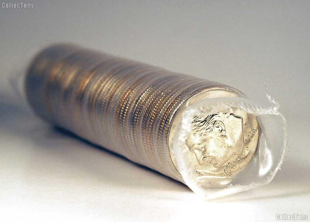 2016-P Roosevelt Dime Bank Wrapped Roll 50 Coins Gem BU