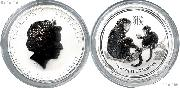2016 Australian Year of the Monkey 1/2 oz Silver Coin - Perth Mint Lunar Series II