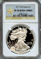 2013-W American Silver Eagle Dollar PROOF in NGC Gold Star PF 70 ULTRA CAMEO