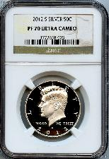 2012-S SILVER Kennedy Half Dollar in NGC PF 70 Ultra Cameo