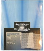 30 Pocket Thumb-Cut Coin Pages for 1.5x1.5 Holders by GuardHouse Shield - Box of 100 Pages