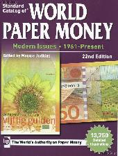 Krause Standard Catalog of World Paper Money Modern Issues 1961-Present, 22nd Edition