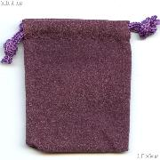 Drawstring Pouch 3x4 Purple Velour Bag for Coins & Slab Coins