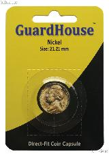 Guardhouse Coin Capsule Direct Fit Coin Holder for NICKELS