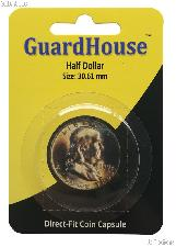 Guardhouse Coin Capsule Direct Fit Coin Holder for HALF DOLLARS