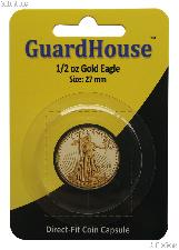 Guardhouse Coin Capsule Direct Fit Coin Holder for 1/2 oz GOLD EAGLES