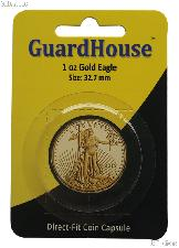 Guardhouse Coin Capsule Direct Fit Coin Holder for 1 oz GOLD EAGLES