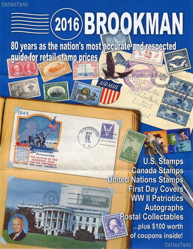 2016 Brookman Stamp Price Guide - Postage Catalog (Paperback)