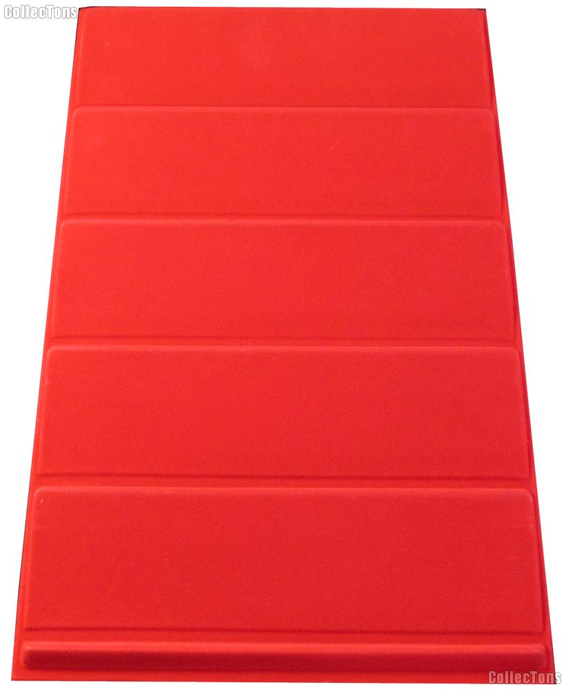 Vertical 5-Tier Coin Tray for Slabs in Red