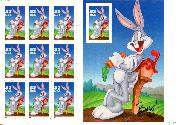 1997 Bugs Bunny 32 Cent US Postage Stamp Unused Sheet of 10 Scott #3137