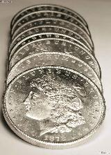 1878-S BU Morgan Silver Dollars from Original Roll