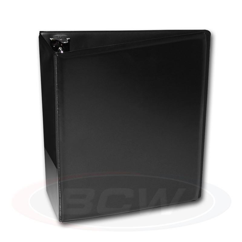 "BCW Plain Black Binder - 3"" D-Ring Album"