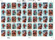 1995 Santa + Children 32 Cent US Postage Stamp MNH Sheet of 50 Scott #3004-3007