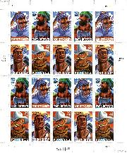 1996 Folk Heroes 32 Cent US Postage Stamp MNH Sheet of 20 Scott #3083-3086