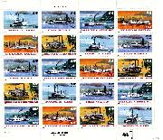 1996 River Boats 32 Cent US Postage Stamp MNH Sheet of 20 Scott #3091-3095