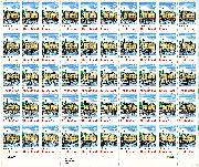 1990 Rhode Island Statehood 25 Cent US Postage Stamp MNH Sheet of 50 Scott #2348