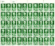 1987 William Faulkner 22 Cent US Postage Stamp MNH Sheet of 50 Scott #2350