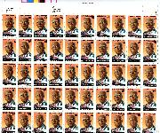 1989 A. Philip Randolph 25 Cent US Postage Stamp MNH Sheet of 50 Scott #2402
