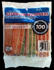 100 Mixed Flat Coin Wrappers (Cents, Nickels, Dimes, Quarters)