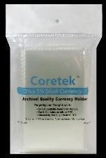 "Coretek 3 1/8"" x 5 1/4"" Small Currency Archival Quality Currency Holder"