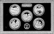 2017 National Parks SILVER Quarter Proof Set - 5 Coins