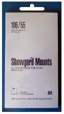Showgard Pre-Cut Black Stamp Mounts Size 106/55