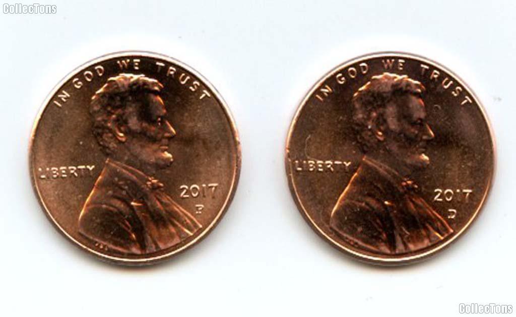 2017 P&D Lincoln Shield Cent - Union Shield Cents