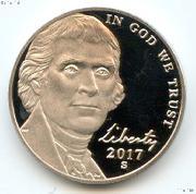 2017-S Jefferson Nickel PROOF Coin 2017 Proof Nickel Coin