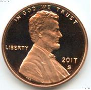 2017-S Lincoln Shield Cent * PROOF Lincoln Union Shield Penny